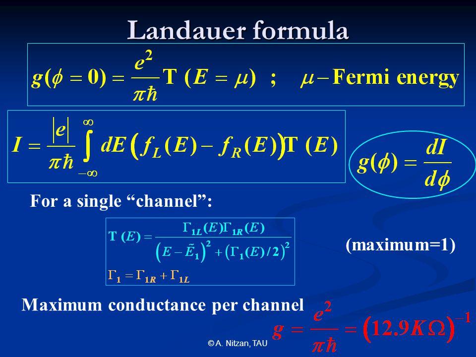 © A.Nitzan, TAU Transmission through several water configurations (equilibrium, 300K) 1.