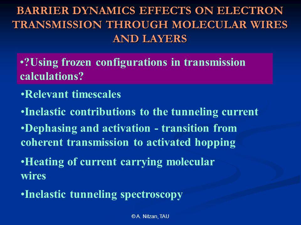 © A. Nitzan, TAU Elastic transmission vs. maximum heat generation: 