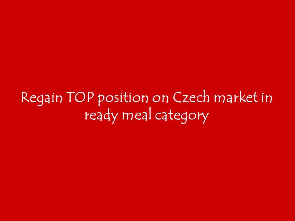Regain TOP position on Czech market in ready meal category