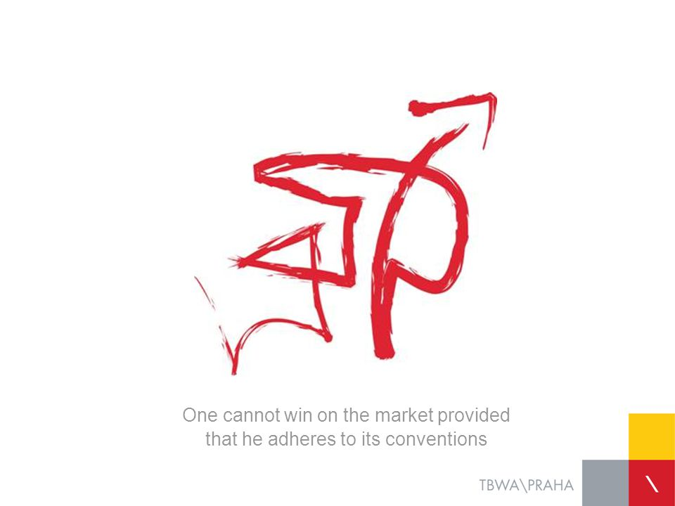 One cannot win on the market provided that he adheres to its conventions