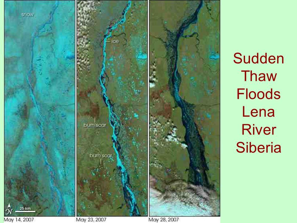 Sudden Thaw Floods Lena River Siberia