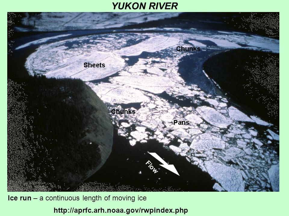 YUKON RIVER Ice run – a continuous length of moving ice http://aprfc.arh.noaa.gov/rwpindex.php