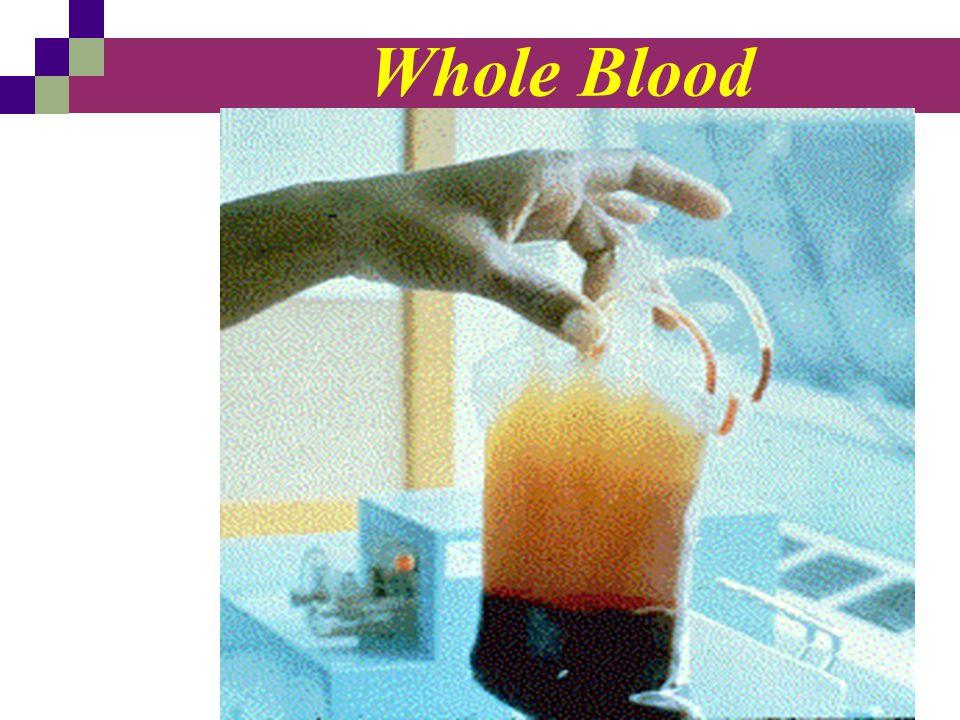 Blood Products خون کامل با حجم 450 سی سی سانتریفیوژ شده و فرآورده های خونی از آن مشتق می شوند گلبول قرمز متراکم پلاکت پلاسما