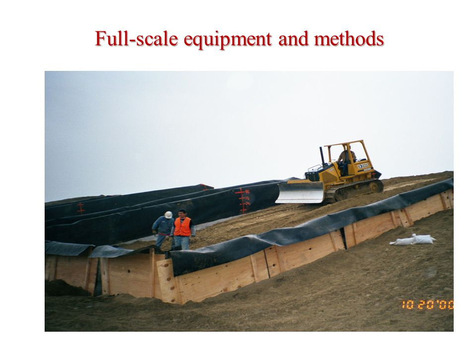 Full-scale equipment and methods