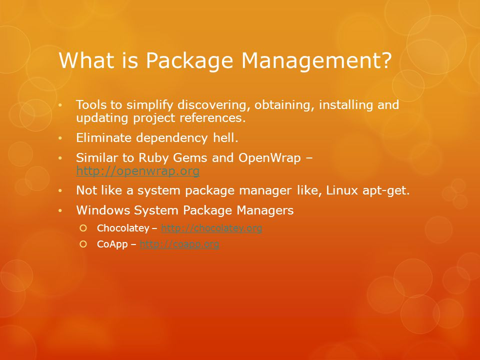 What is Package Management.