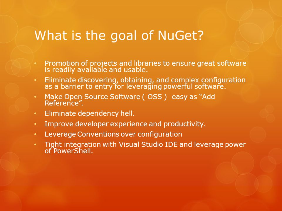 What is the goal of NuGet.