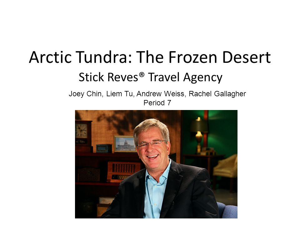 Arctic Tundra: The Frozen Desert Stick Reves® Travel Agency Joey Chin, Liem Tu, Andrew Weiss, Rachel Gallagher Period 7