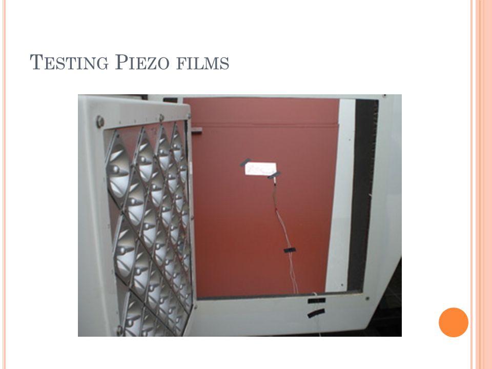 T ESTING P IEZO FILMS