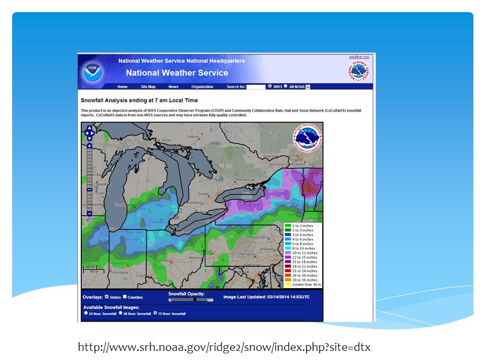 http://www.srh.noaa.gov/ridge2/snow/index.php site=dtx