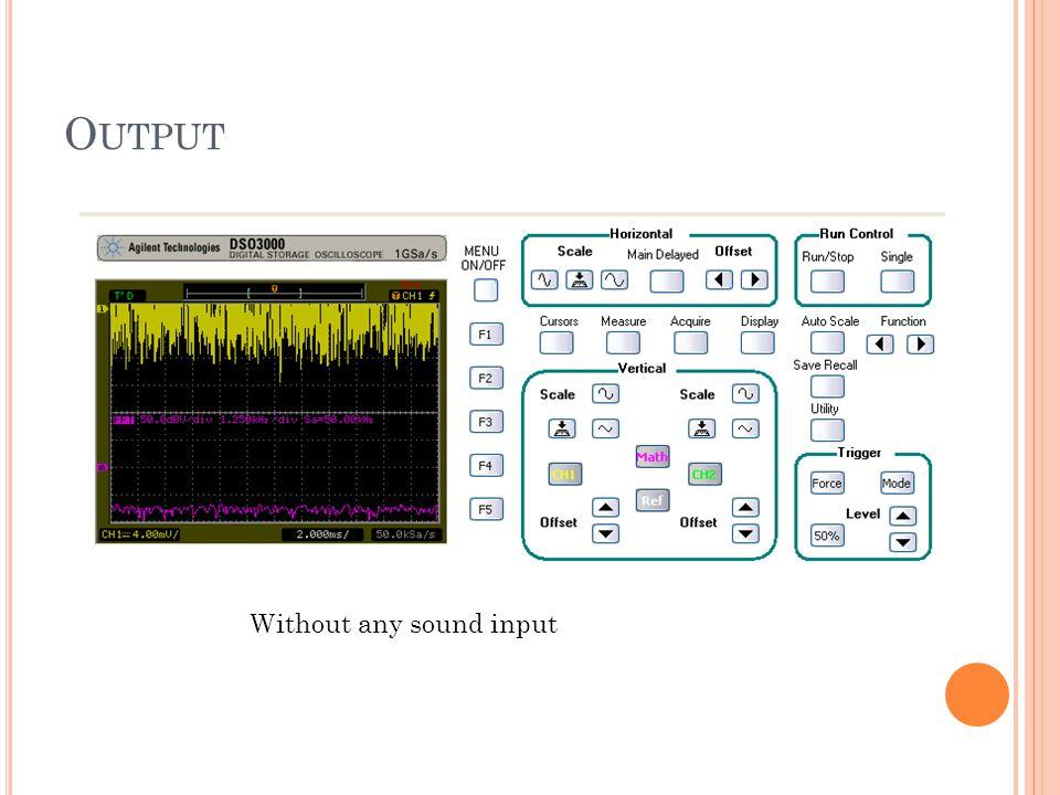 O UTPUT Without any sound input