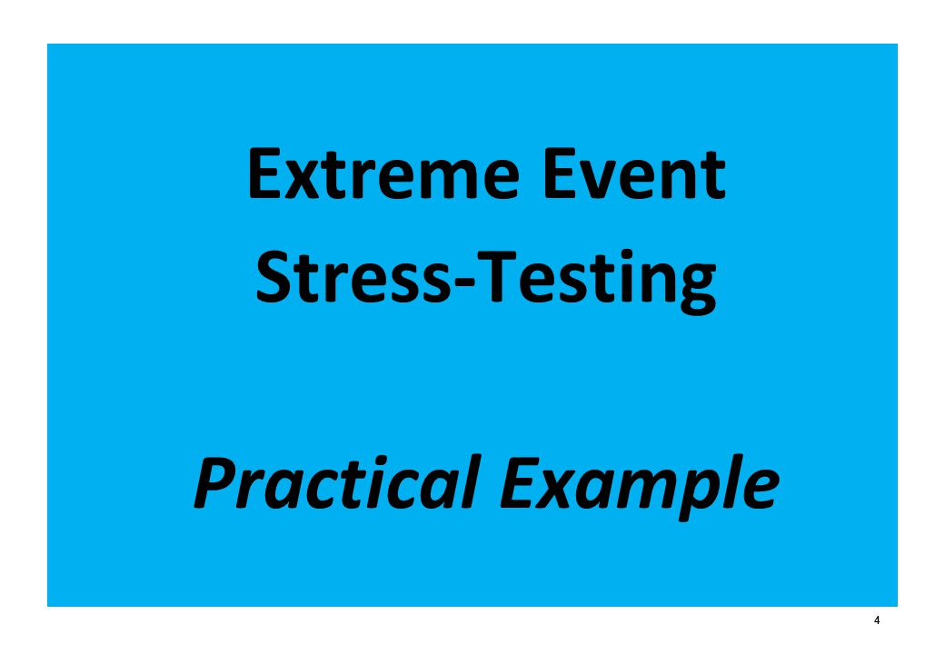 Extreme Event Stress-Testing Practical Example 4