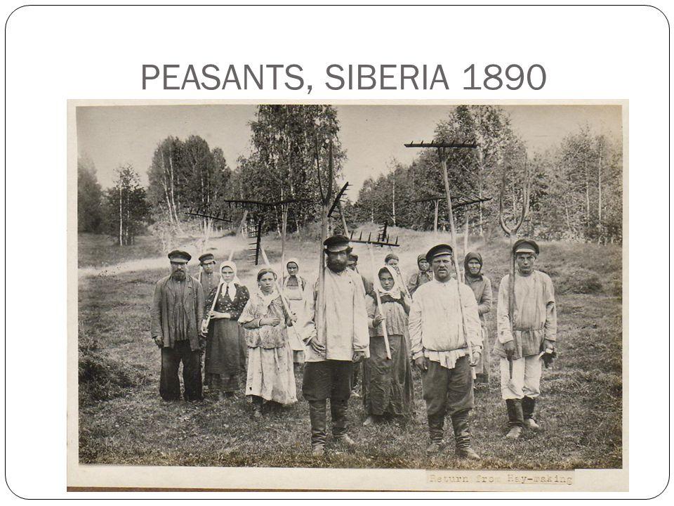 PEASANTS, SIBERIA 1890