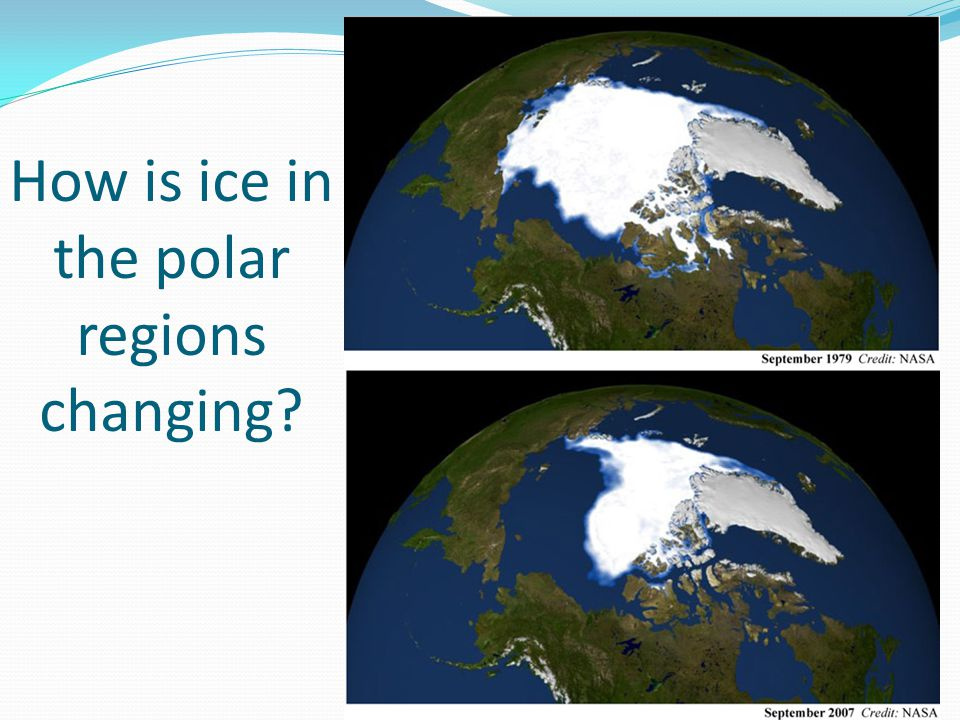 How is ice in the polar regions changing