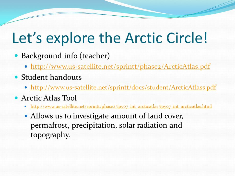 Let's explore the Arctic Circle.