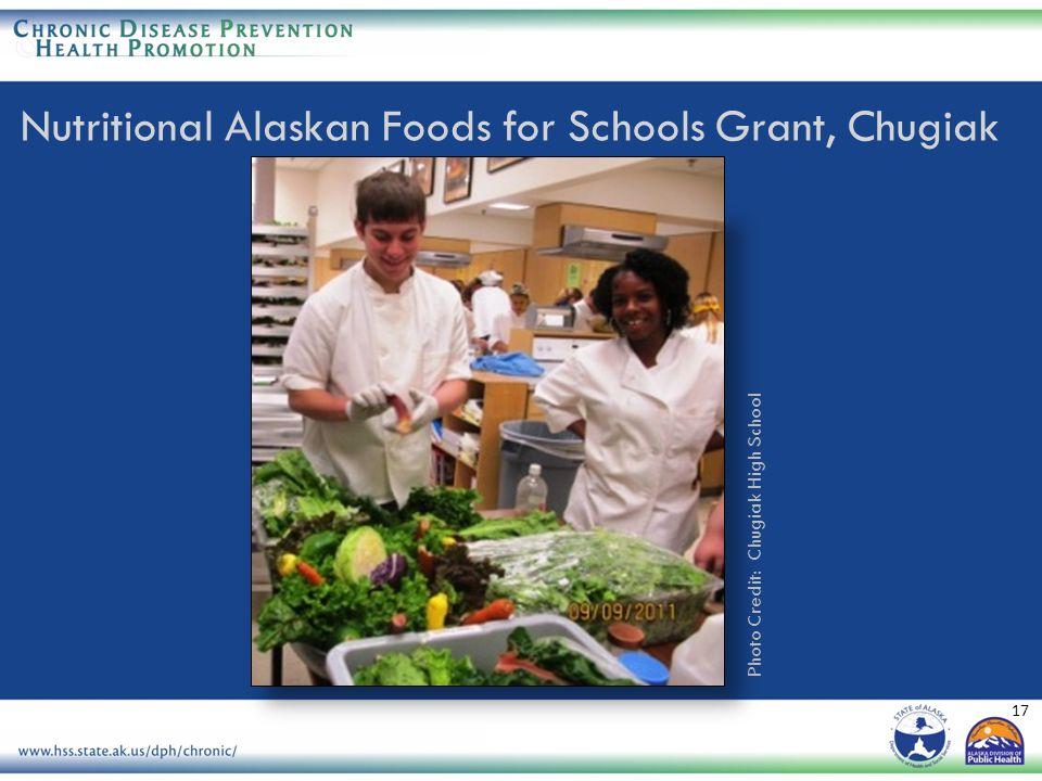 17 Photo Credit: Chugiak High School Nutritional Alaskan Foods for Schools Grant, Chugiak