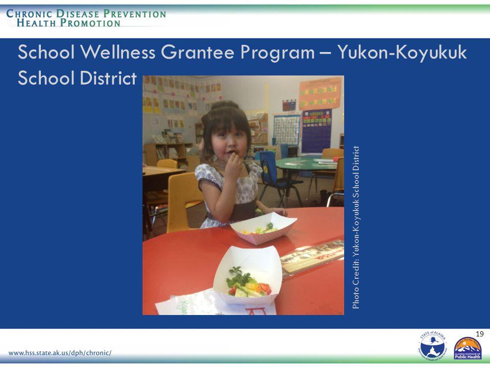 19 Photo Credit: Yukon-Koyukuk School District School Wellness Grantee Program – Yukon-Koyukuk School District
