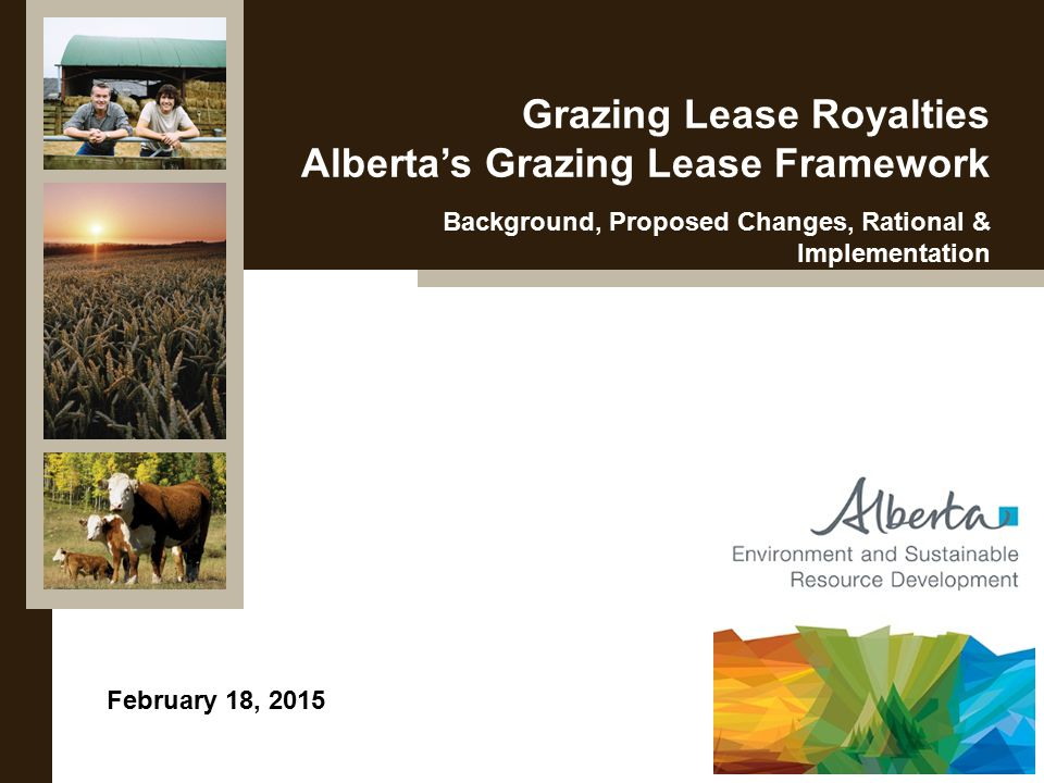 Page 2 Background – Rental Rates 3-zone rental rate system implemented in 1960 Based on distance to livestock markets and outdated understanding of forage quality