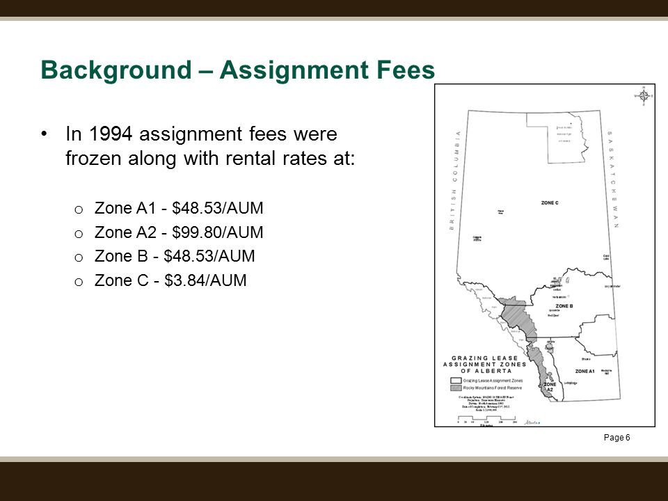 Page 27 APPENDIX – SUMMARY INFORMATION ON THE PROPOSED CALCULATION OF RENTS AND ON ASSIGNMENT FEES Market Based Rents for Grazing Leases