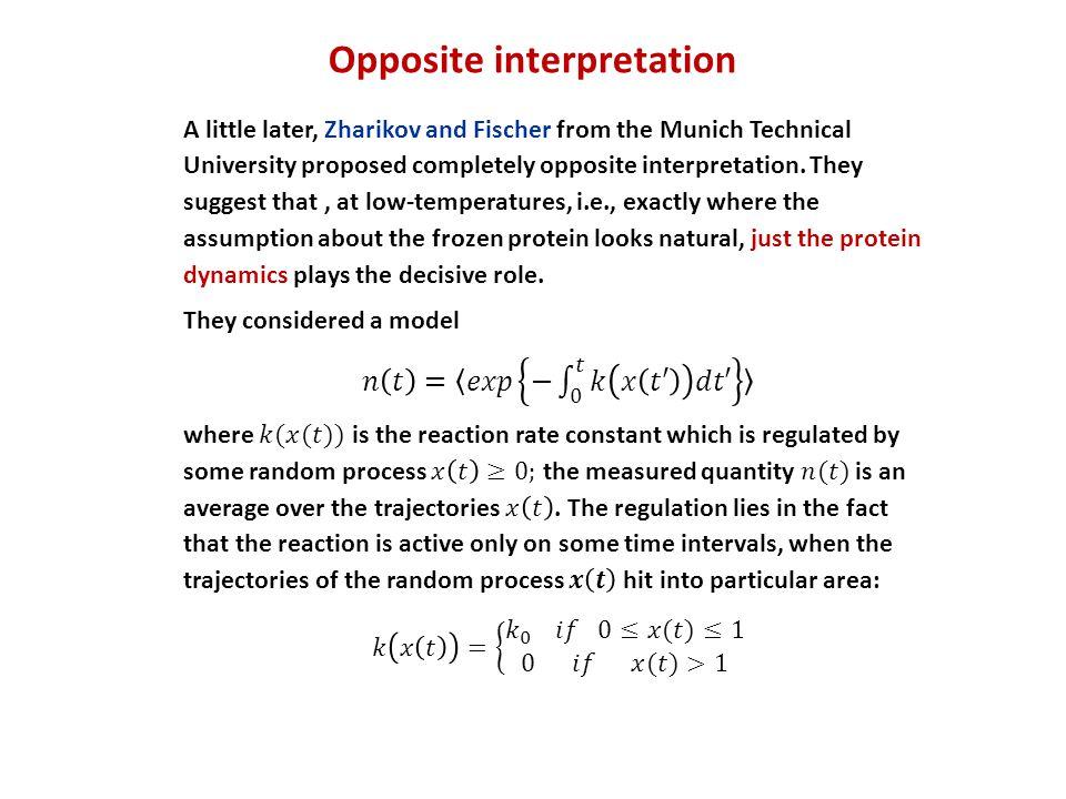 Opposite interpretation
