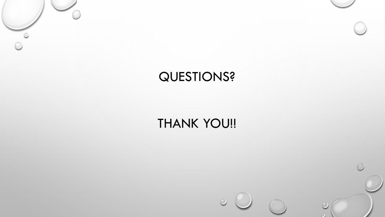 QUESTIONS THANK YOU!!