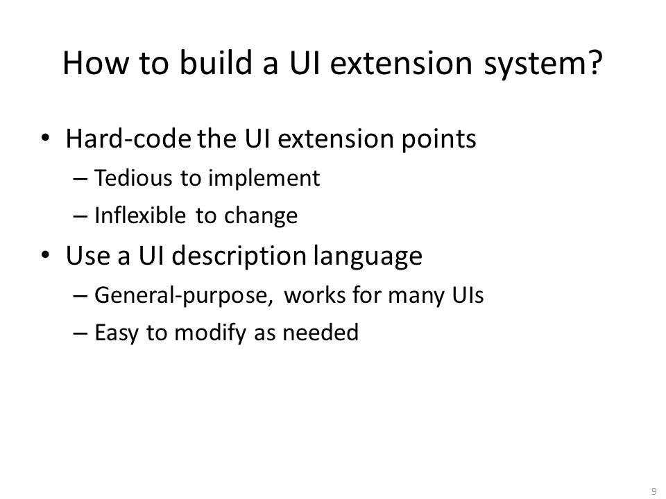 How to build a UI extension system.