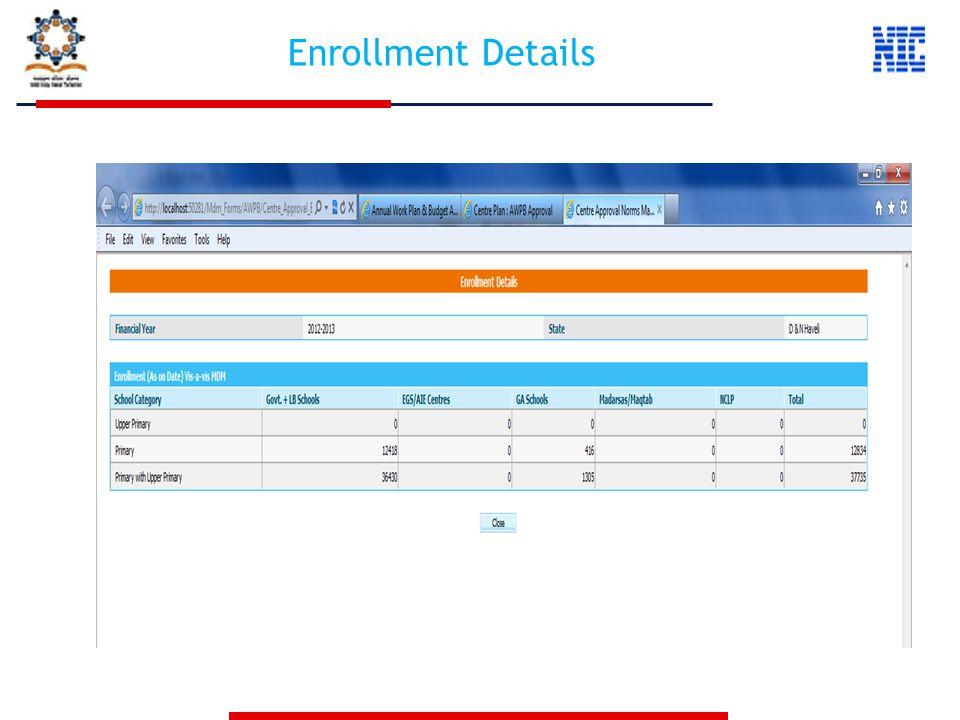 Enrollment Details