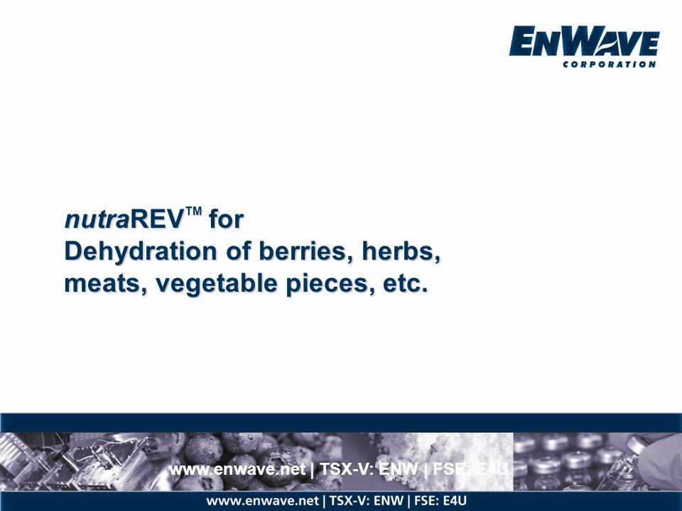 High-speed, low temperature drying of purees; dried and ground.
