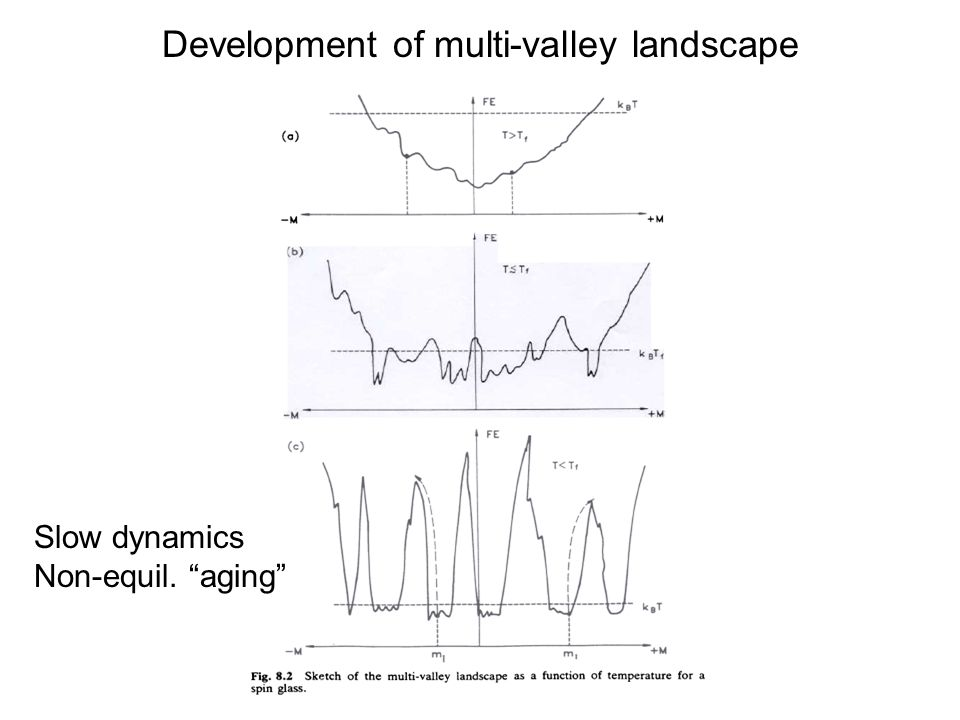 Development of multi-valley landscape Slow dynamics Non-equil. aging