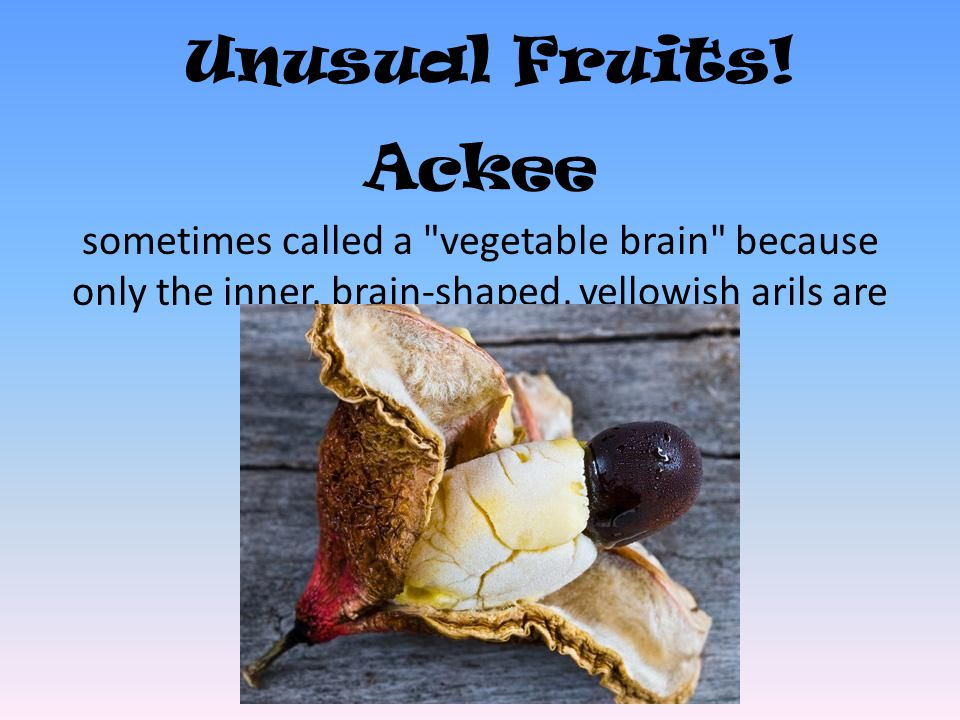 Unusual Fruits! Ackee sometimes called a