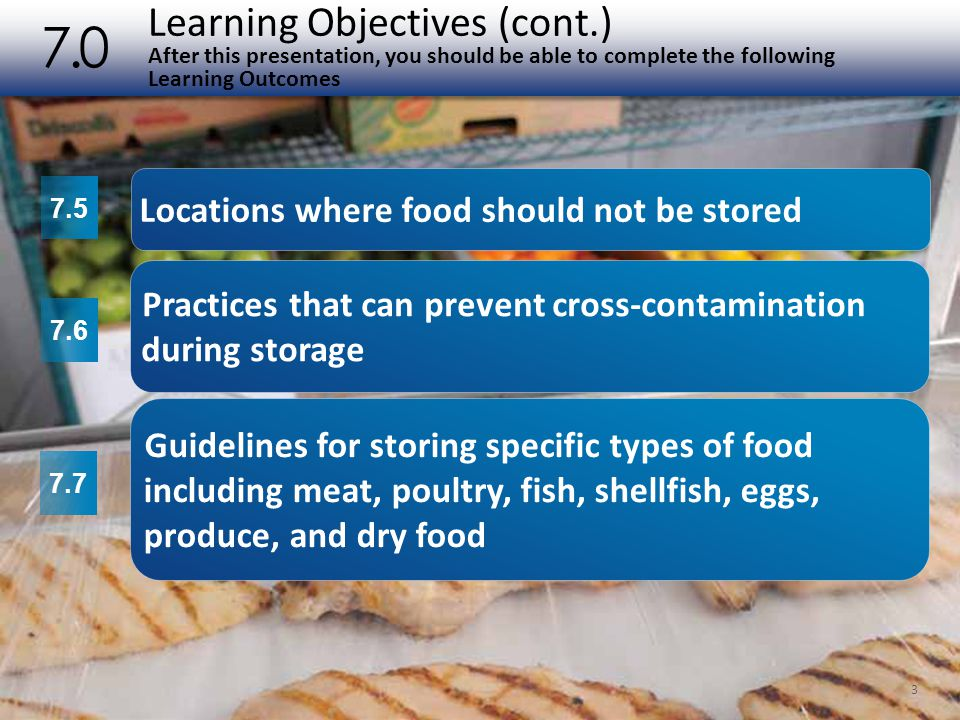 Learning Objectives (cont.) After this presentation, you should be able to complete the following Learning Outcomes 7.0 3 7.5 7.6 7.7 Locations where