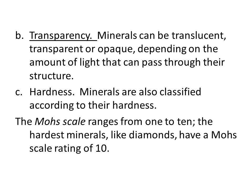 b.Transparency.