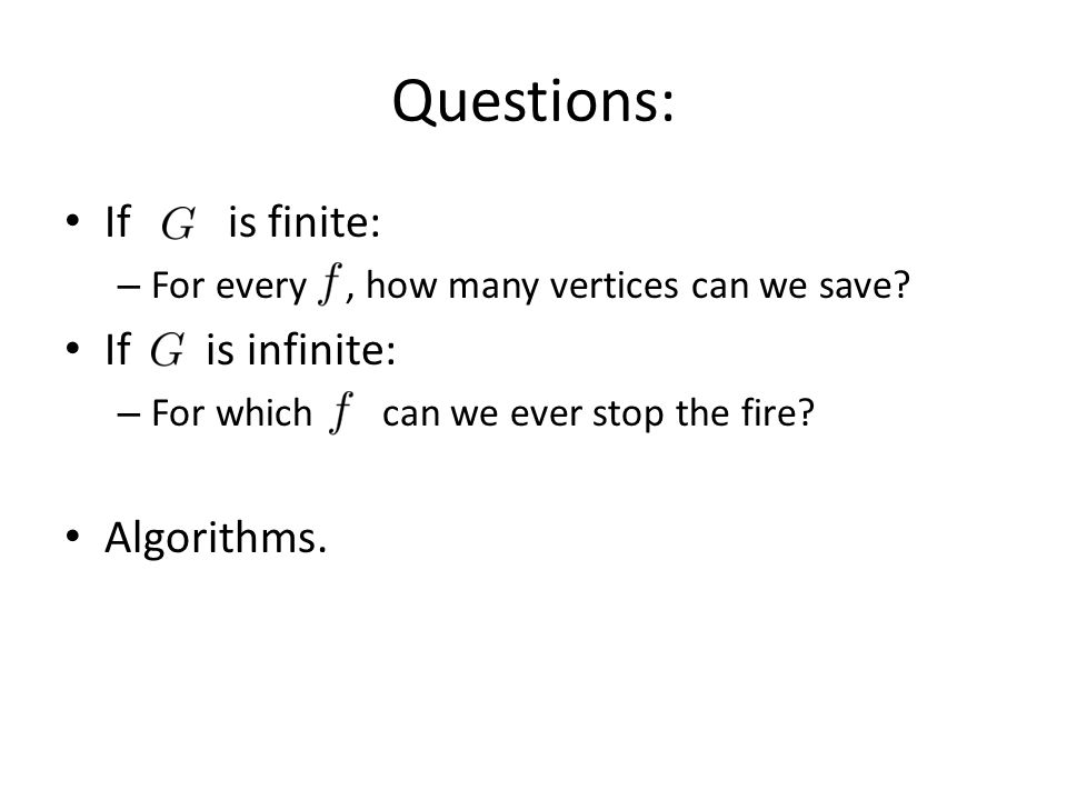 If is finite: – For every, how many vertices can we save.