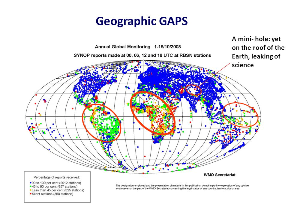 Geographic GAPS A mini- hole: yet on the roof of the Earth, leaking of science
