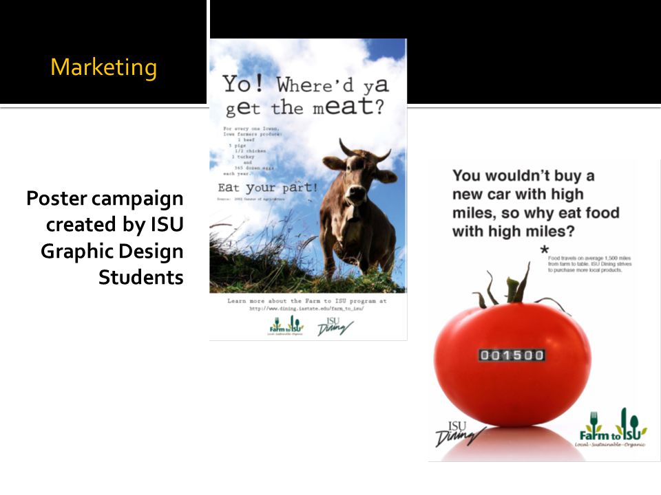 Marketing Poster campaign created by ISU Graphic Design Students