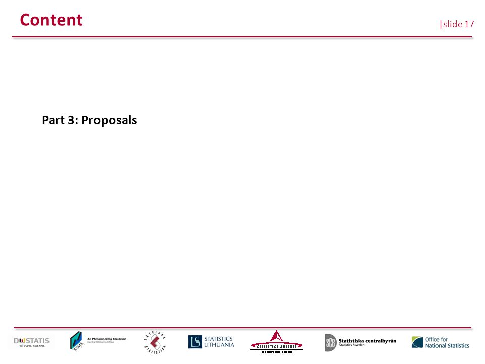 |slide 17 Content Part 3: Proposals