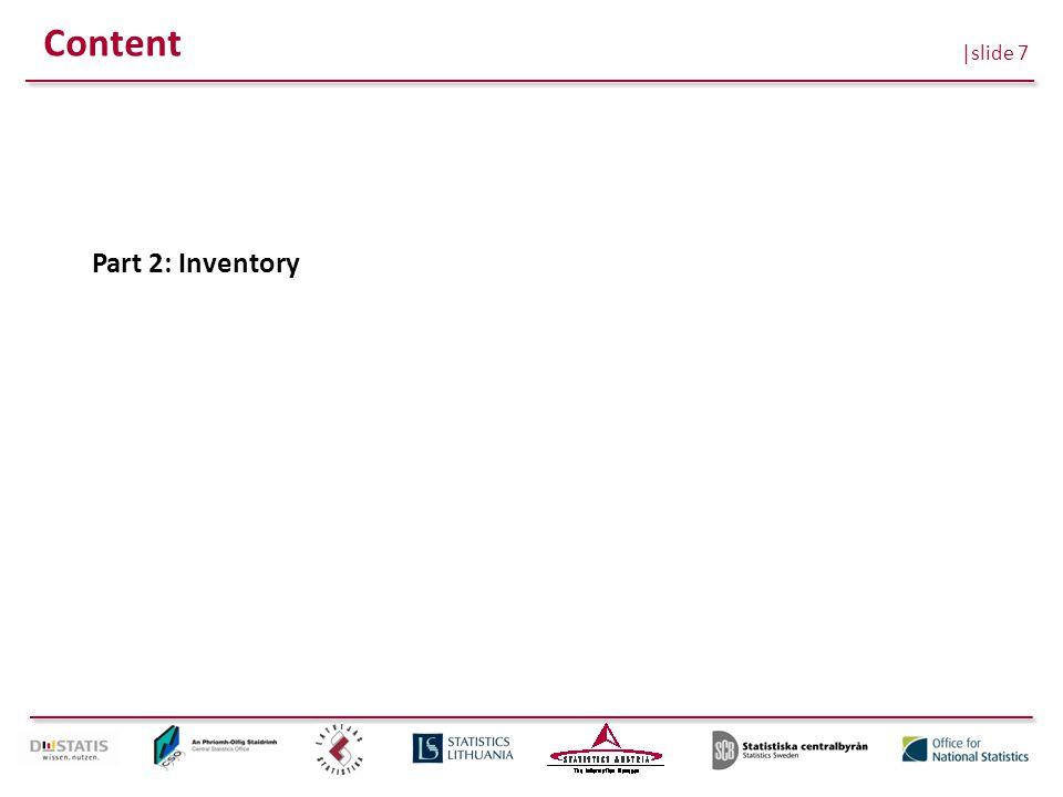 |slide 7 Content Part 2: Inventory