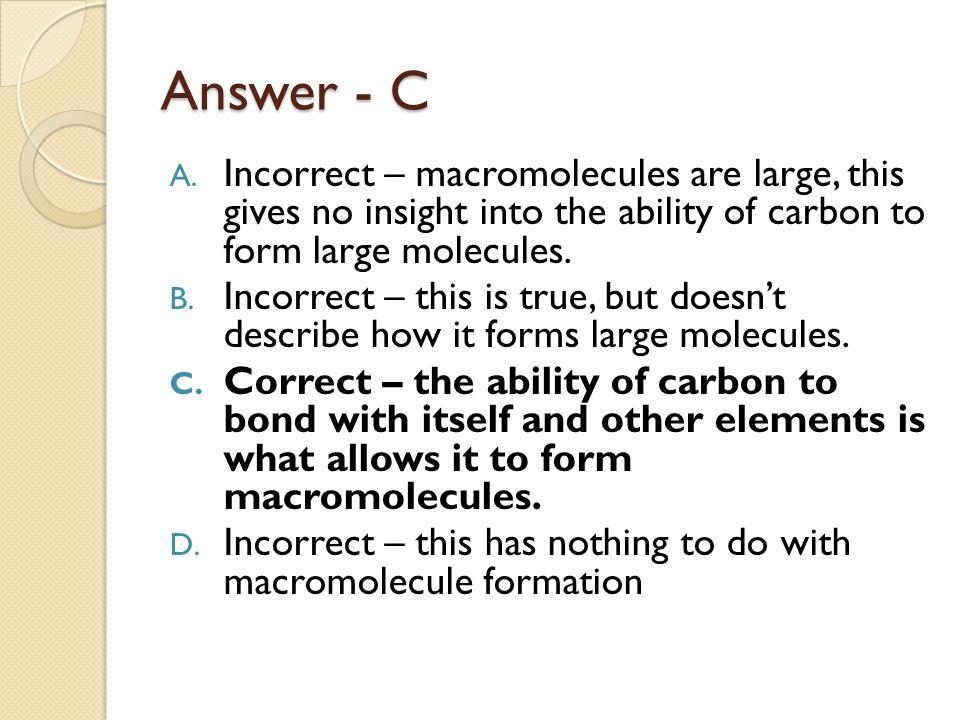 Answer - C A.