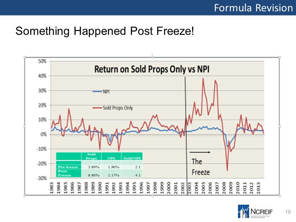 Formula Revision 19 Something Happened Post Freeze!