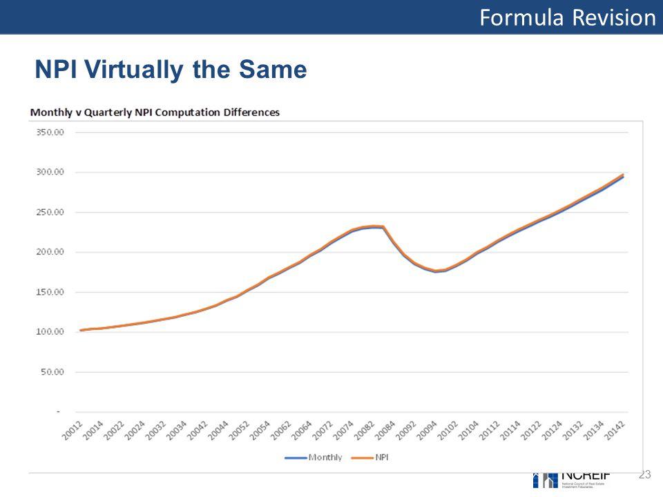 Formula Revision 23 NPI Virtually the Same
