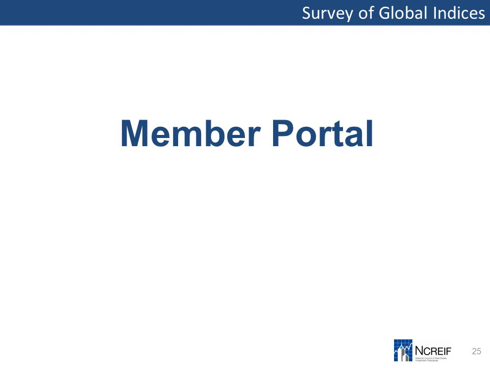 Survey of Global Indices 25 Member Portal
