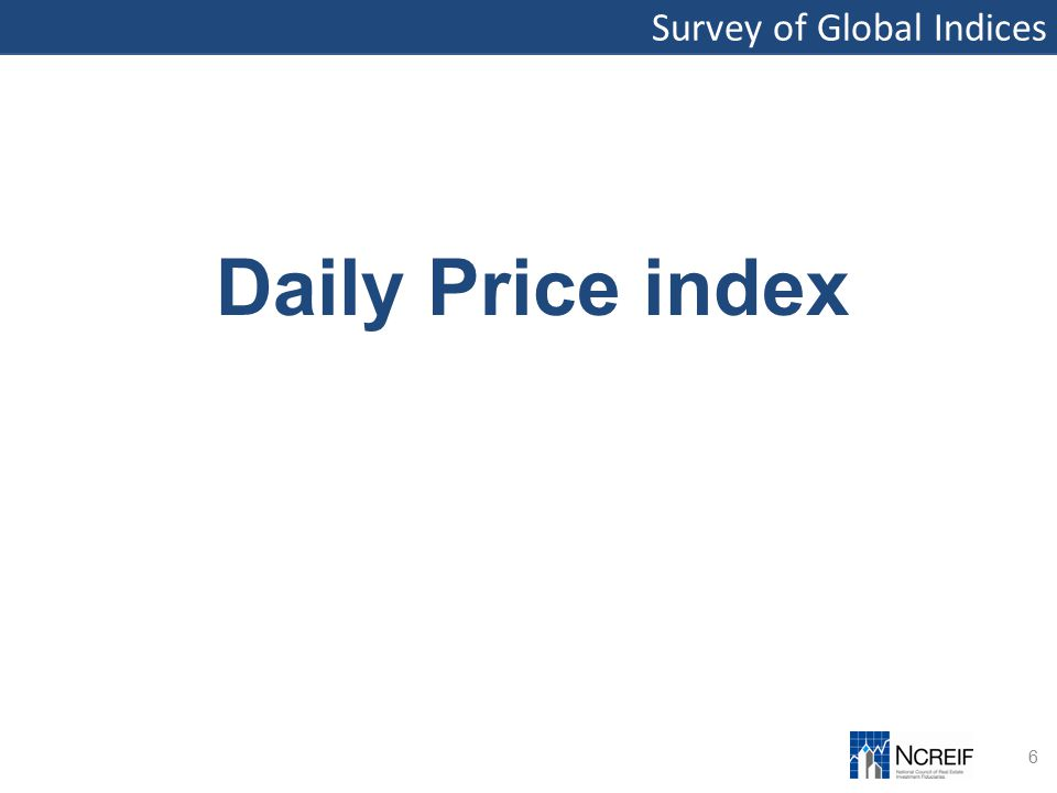 Survey of Global Indices 6 Daily Price index