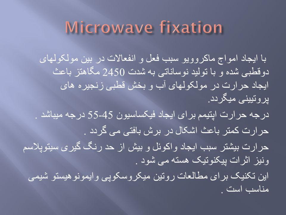 با ایجاد امواج ماکروویو سبب فعل و انفعالات در بین مولکولهای دوقطبی شده و با تولید نوساناتی به شدت 2450 مگاهتز باعث ایجاد حرارت در مولکولهای آب و بخش ق