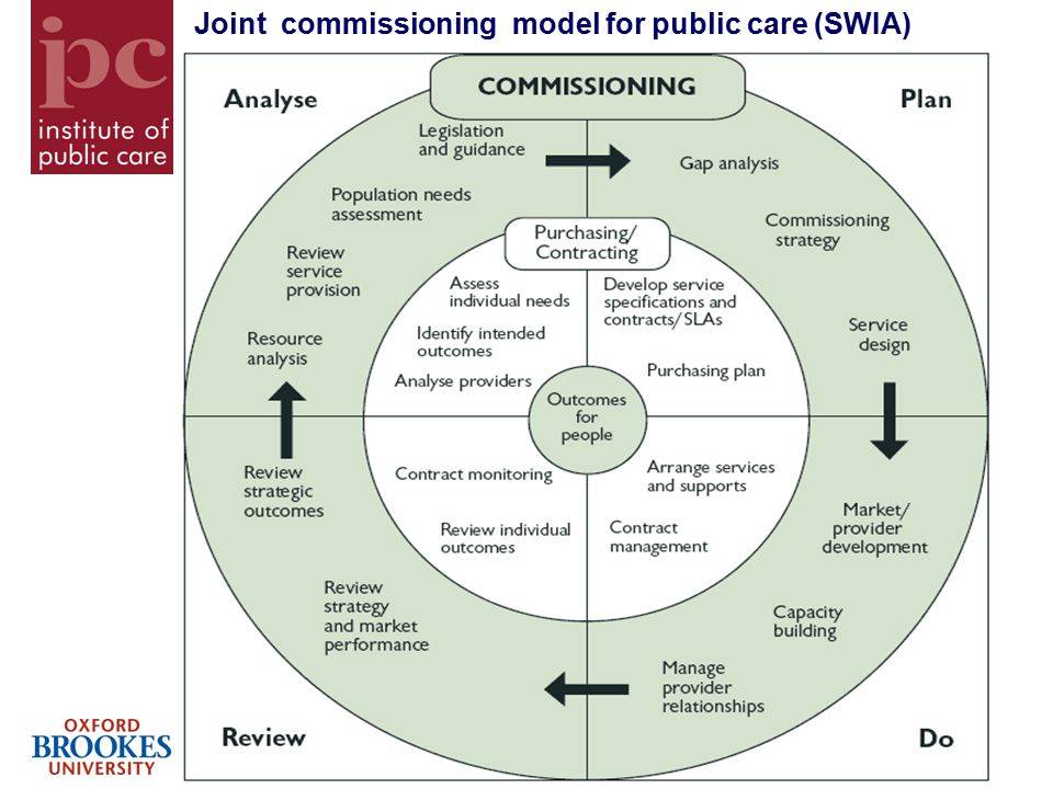 13 Joint commissioning model for public care (SWIA)
