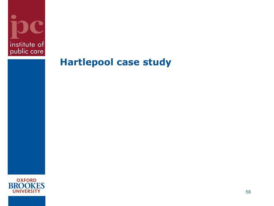 Hartlepool case study 58