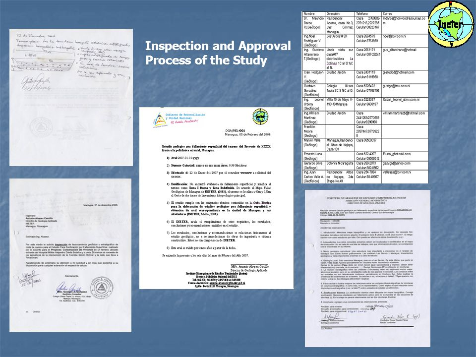 Inspection and Approval Process of the Study