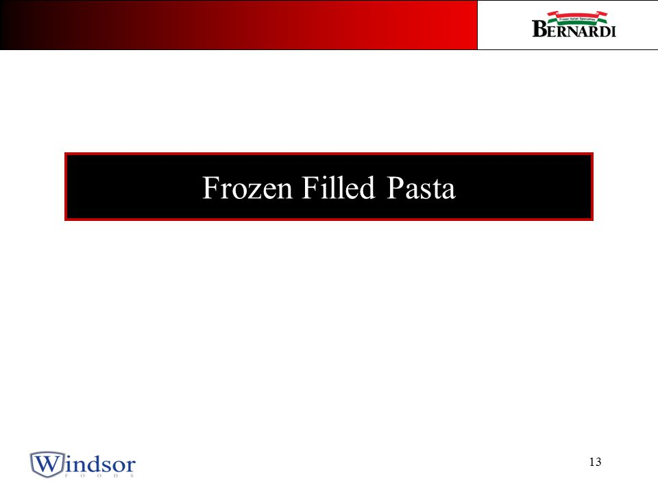 13 Frozen Filled Pasta