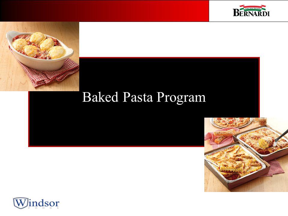 Baked Pasta Program