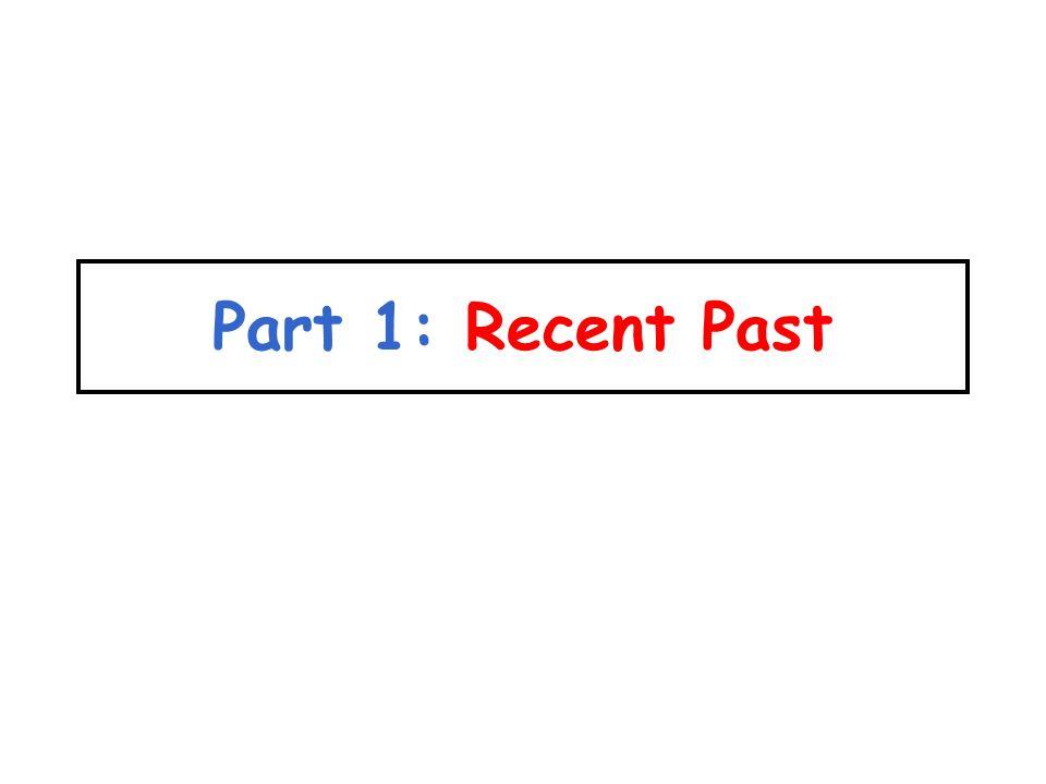 Part 1: Recent Past