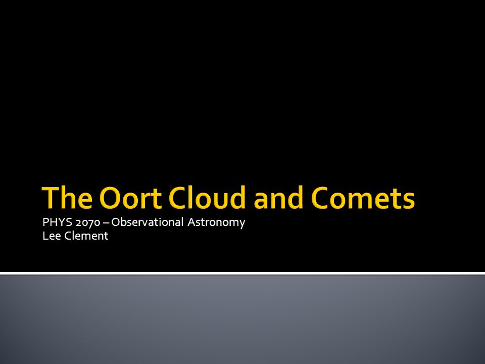 PHYS 2070 – Observational Astronomy Lee Clement