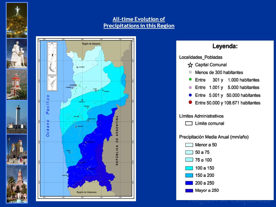 All-time Evolution of Precipitations in this Region